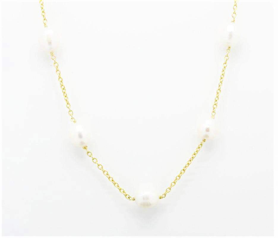 Pearls by the Yard designer style Gold Necklace