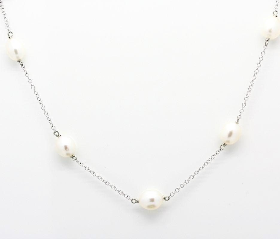 Pearls by the Yard designer style Silver necklace
