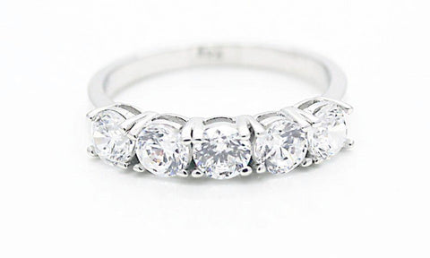 "Traditional 5 stone ""Diamond"" Ring"