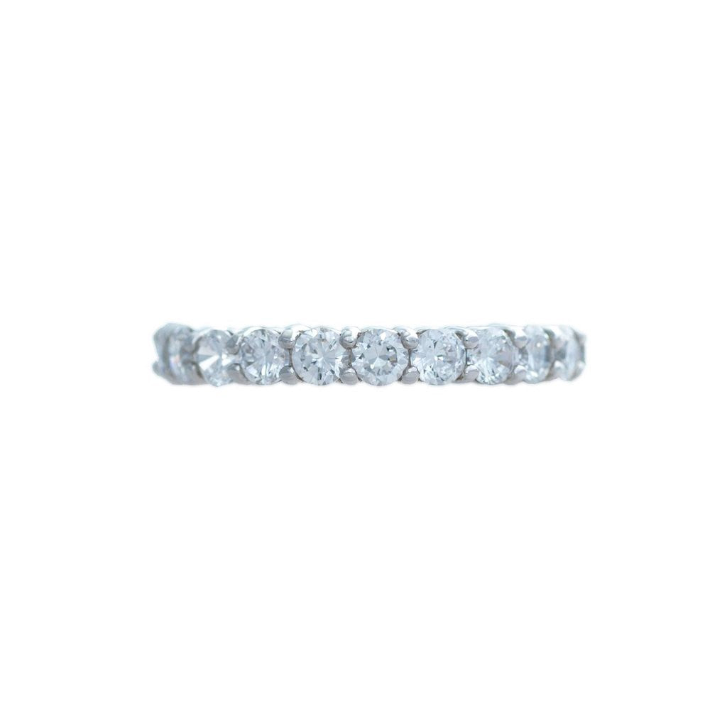 Traditional Style Silver Eternity Ring