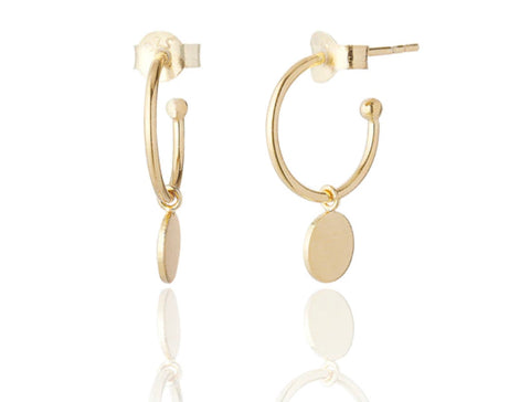 Gold or Silver Disc Hoops