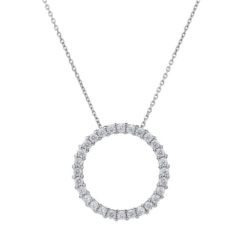 "The ""Tiff"" Eternity Circle Necklace"