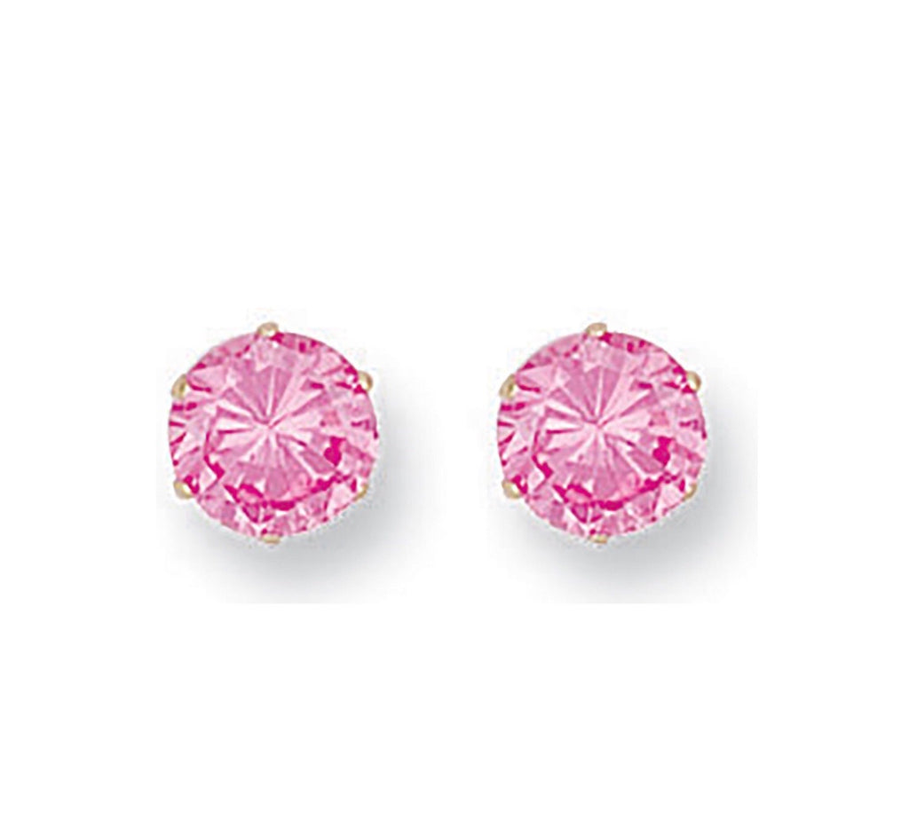 9ct Gold Pink 5mm Studs