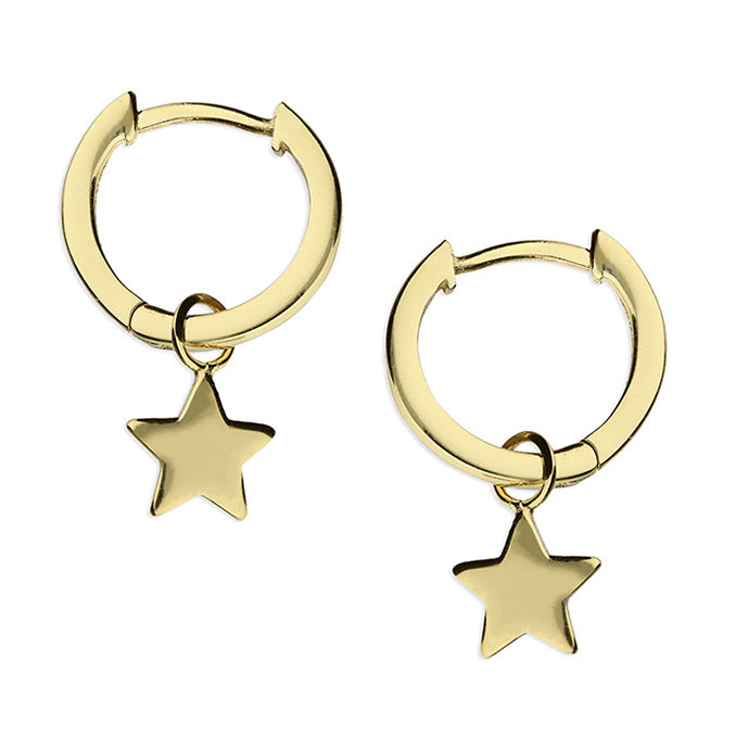 Gold or Silver Detachable Star Hoops