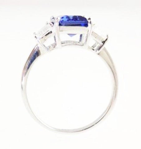 "Classic Emerald cut ""tanzanite"" Ring"