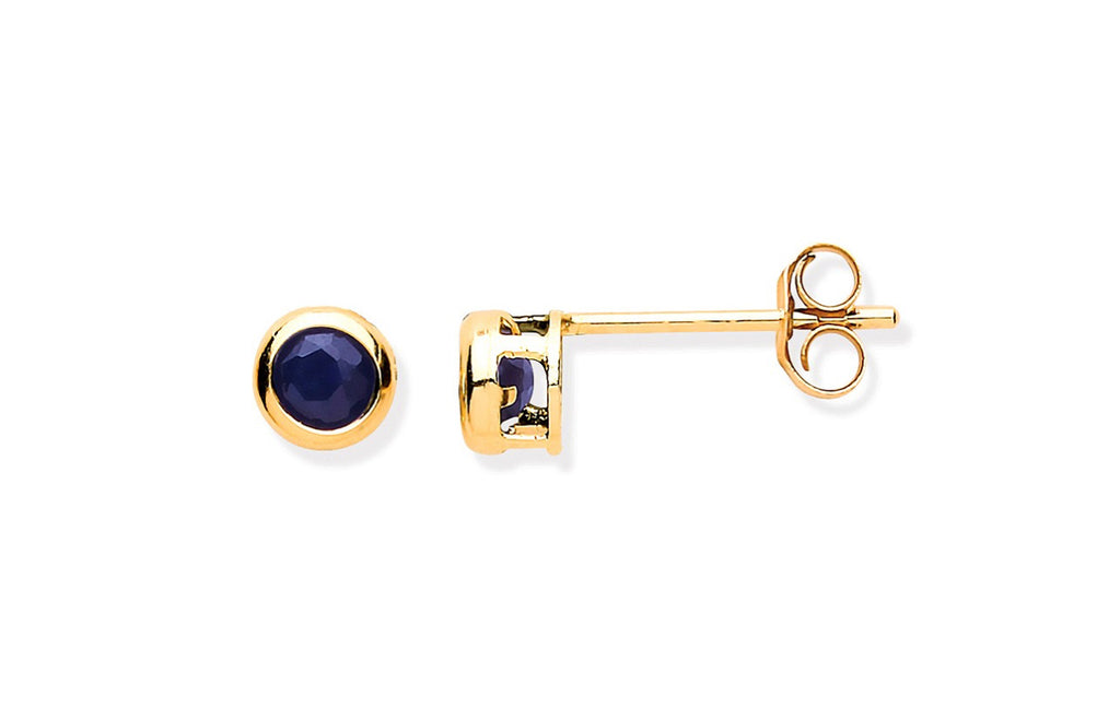 9 ct Gold Sapphire Earrings
