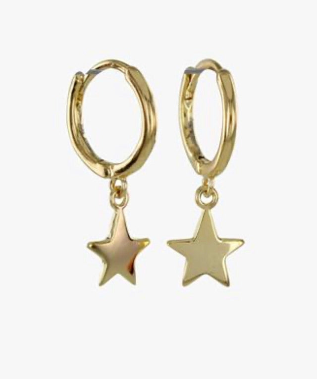 Gold Star Sleeper Hoops