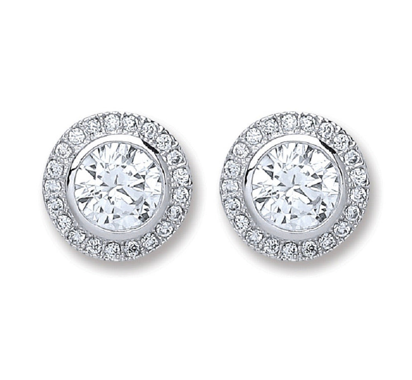 "Victorian Large Round ""Diamond"" Earrings"