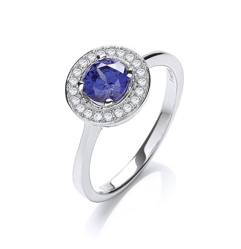 """Tanzanite and Diamond"" Classic Ring"