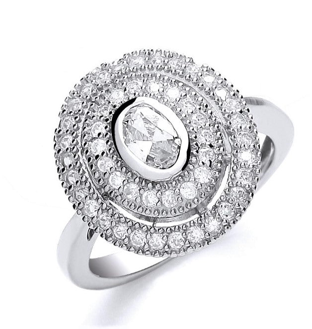 Small Oval Layered Ring