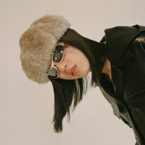 Faux Fur Beret by Clyde