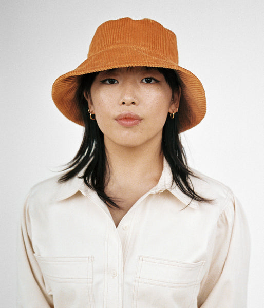 Ebi Bucket Hat in Amber Corduroy - CLYDE
