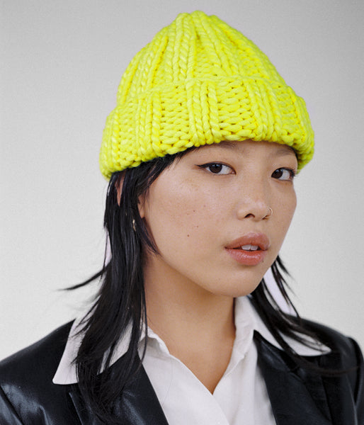 Fold Hat in Neon Yellow - CLYDE