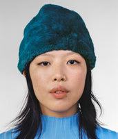 Faux Fur Toque in Petrol - CLYDE