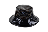 Bucket Hat in Smoke Vinyl - CLYDE