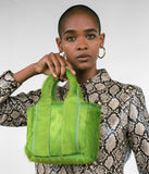 Snack Bag in Acid Green Pony Hair - CLYDE