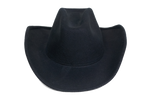 Cowboy Hat in Black Wool - CLYDE