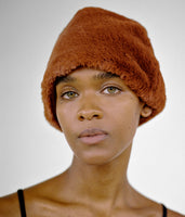 Faux Fur Toque in Brandy - CLYDE