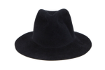 Pinch Hat in Black Angora - CLYDE