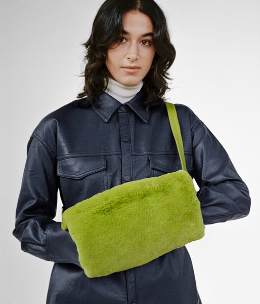 Muff Bag in Moss Fur