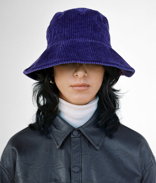 Ebi Bucket Hat in Purple Rain Corduroy - CLYDE
