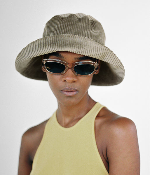Ebi Bucket Hat in Taupe Corduroy