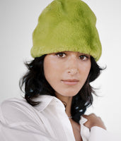 Faux Fur Toque in Moss - CLYDE