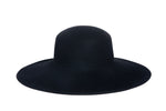 Wide Brim Pearl Hat in Black Wool - CLYDE