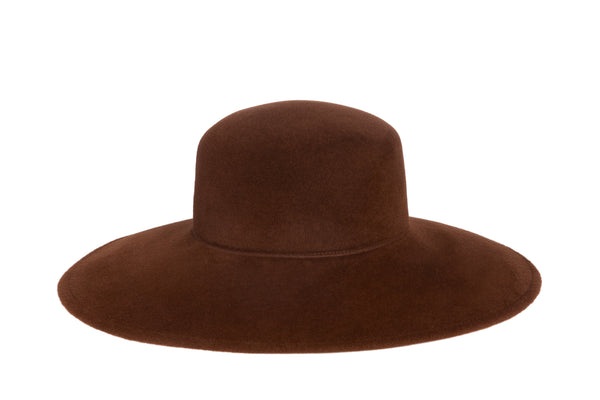 Wide Brim Pearl Hat in Tigers Eye - CLYDE