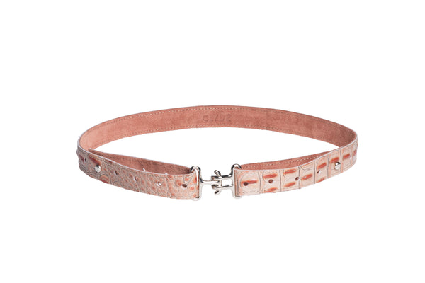 Link Belt in Pink Gator - CLYDE