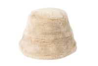 Fur Bucket Hat in Ecru