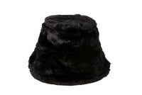 Fur Bucket Hat in Black