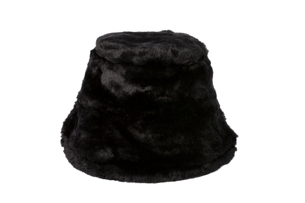 26fb573a2 Fur Bucket Hat in Black – CLYDE