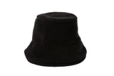 Fur Bucket Hat in Black Shearling Fleece