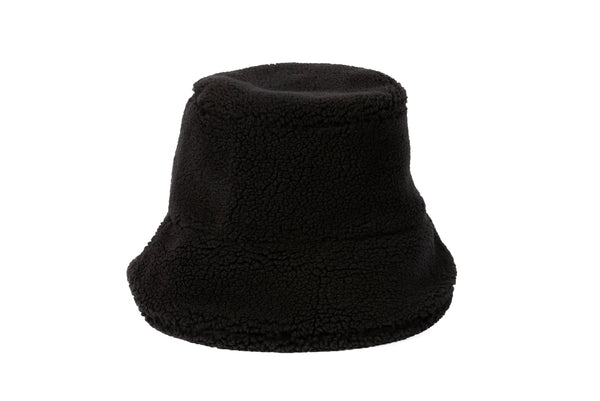 1ee453810 Fur Bucket Hat in Black Shearling Fleece – CLYDE