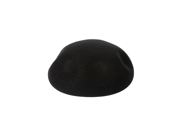 Dent Beret in Black Wool
