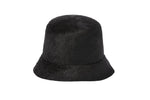 Batta Hat in Black Long Hair Angora - CLYDE