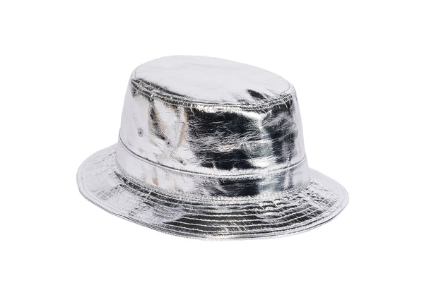 ÉTUDES x CLYDE Bucket Hat in Silver - CLYDE