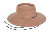 Gaucho Hat in Fawn Brown Suede