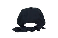 Tie Baseball Cap in Black Wool - CLYDE