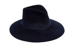 Wide Brim Pinch Hat in Midnight