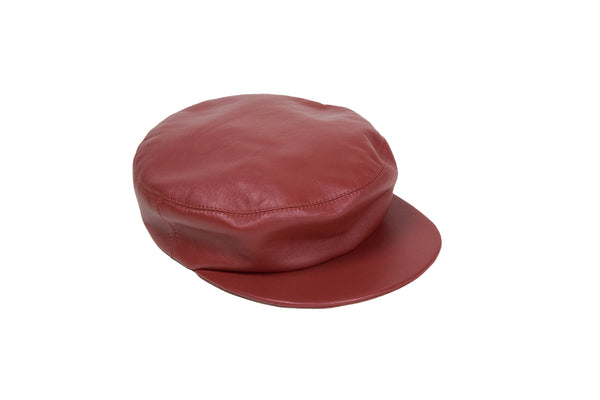 Lambskin Acton Hat in Cognac