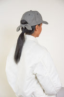 Tie Baseball Cap in Black and White Houndstooth