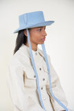 Telescope Hat in Sky Blue Angora - CLYDE