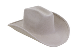 Cowboy Hat in Alabaster Angora - CLYDE