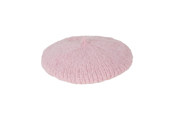 Mohair Beret in Powder Pink