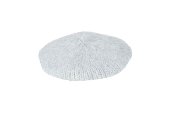 Mohair Beret in Heather Grey