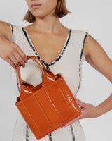 Snack Bag in Caramel Patent - CLYDE