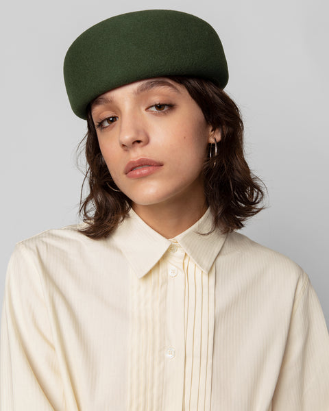 Jeanie Hat in Khaki Green - CLYDE