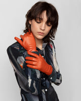 Lambskin Gloves in Burnt Orange - CLYDE